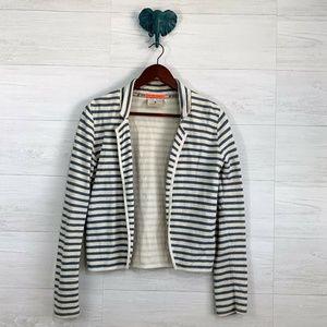 Maison Scotch PS Blue Cream Striped Cardigan